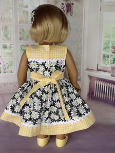 18 inch doll dress and head band. Fits American Girl Dolls.