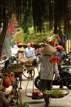 Hanoi - Matt P. great inspiration for the market places in my story