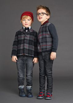 Back To School Dolce & Gabbana Winter 2016 Kids Clothes Best Looks Kids Boys, Cute Boys, Cool Kids, Little Boy Fashion, Kids Fashion Boy, Kids Clothing Brands List, Winter Kids, Stylish Kids, Kind Mode