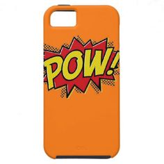 Hero Pow Burst iPhone Case-Sherbert Orange