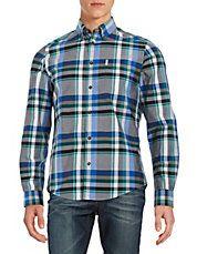 Plaid Cotton Sportshirt