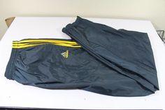ADIDAS  men  pants (XL)  blue 100% nylon pre-owned  #adidas