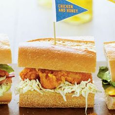 Ready-to-Serve Tailgating Recipes: Chicken & Honey Sandwiches
