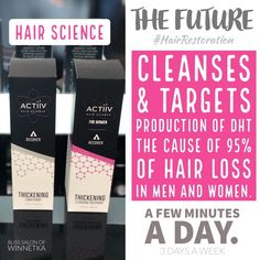 Activ is made from natural ingredients & vegan formulated to regrow hair. A process a few times a week. The before and after results are impressive! Stop in the salon for the women's or men's formula! Wet Hair, Hair A, Hair Science, Be Gentle With Yourself, Regrow Hair, Hair Loss Remedies, Prevent Hair Loss, Hair Restoration, How To Make Hair