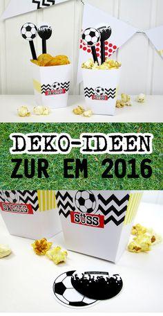 Schnelle Deko-Ideen für die EM 2016! Mit Freebie zum Runterladen.
