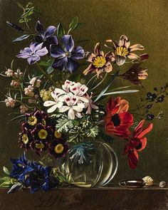 View A Floral Still Life by Georgius Jacobus Johannes van Os on artnet. Browse upcoming and past auction lots by Georgius Jacobus Johannes van Os. Dutch Still Life, Still Life Art, Flower Vases, Flower Art, Still Life Flowers, Still Life Oil Painting, Acrylic Flowers, Dutch Painters, Botanical Drawings