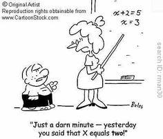 math teacher cartoons - so funny!