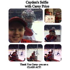Canadiens Montréal retweeted     Bobby J. St. Laurent @sportsbobbyj - Winnipeg, Manitoba    @CP0031 @CanadiensMTL @TSN690 Thank you so much Carey-you made my 12 year old son Cayden SO Happy- total class act!