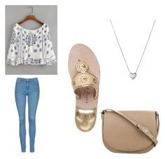 """""""Outfit 1075"""" by that-girl-j ❤ liked on Polyvore featuring WithChic, Topshop, Jack Rogers, CÉLINE and Links of London"""