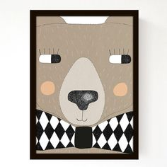 Big Bear A3 Print par seventytree sur Etsy, £23,00 Chambre d'enfant
