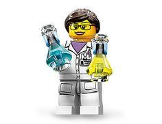 ✿☮✝★ LEGO ✝☯★☮ Female Scientist Lego Minifig