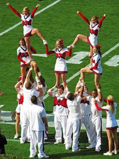 Ole Miss cheerleading, cheerleaders,  CHEER , college, collegiate, #hottytoddy, sports, game, stunt from Kythoni's Cheerleading: Collegiate board http://pinterest.com/kythoni/cheerleading-collegiate/ #KyFun m.21.159