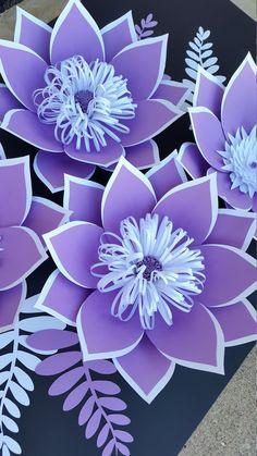 Pared de flores de papel personalizado Custom papel flor