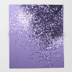 ULTRA VIOLET Glitter Dream #1 #shiny #decor #art #society6 Throw Blanket by anitabellajantz | Society6