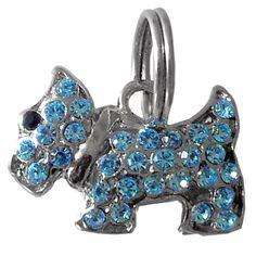 Pingente Schnauzer Azul São Pet - MeuAmigoPet.com.br #petshop #cachorro #cão #meuamigopet