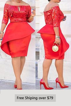 Elegant Sleeve Knee-Length Off Shoulder Bodycon Dress African Lace Styles, Short African Dresses, Latest African Fashion Dresses, African Print Dresses, African Print Fashion, White Dresses For Women, Simple Dresses, Lace Dress Styles, African Traditional Dresses