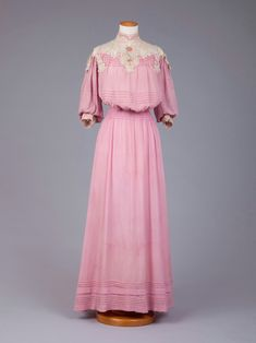 Day dress 1900-1905 silk, lace