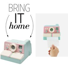 Bring It Home: Camera Toilet Paper Holder by polyvore-editorial on Polyvore featuring interior, interiors, interior design, home, home decor, interior decorating and bringithome
