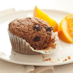These bran muffins aren't just healthy--they're also fluffy, sweet and studded with tasty raisins. #muffins #breakfast #recipes