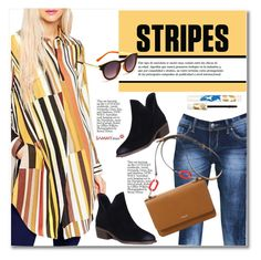 """""""One Direction: Striped Shirts"""" by svijetlana ❤ liked on Polyvore featuring stripes and polyvoreeditorial"""