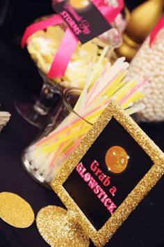 Disco Glam Birthday Party via Kara's Party Ideas KarasPartyIdeas.com