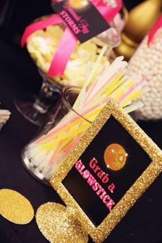 Disco Glam Birthday Party via Kara's Party Ideas KarasPartyIdeas.com