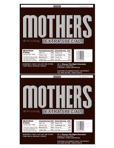 Mothers candy bar printable