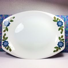 60s Vintage Retro J G Meakin Studio Topic Oval Platter Steak Plate
