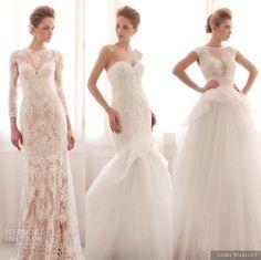weddinginspirasi:  Top editor's wedding dress picks fromGemy Maalouf Bridal 2014 WeddingDress Collection.