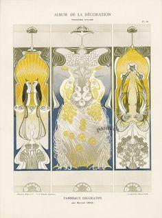 Calavas Art Nouveau Folio Album de la Decoration c1900  Panneaux Decoratifs by Manuel Orazi $115