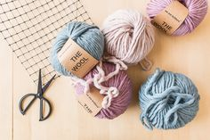 We Are Knitters wool yarn for a weaving project