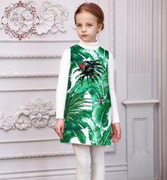 $41.47 (Buy here: https://alitems.com/g/1e8d114494ebda23ff8b16525dc3e8/?i=5&ulp=https%3A%2F%2Fwww.aliexpress.com%2Fitem%2FRobe-Fille-Enfant-Girls-Dresses-Kids-Costume-2016-Brand-Girl-Dress-Princess-Tropical-Print-Jewel-Kids%2F32685252788.html ) Girls Dresses Kids Costume 2016 Brand Winter Girl Dress Princess Sleeveless Tropical Print Jewel Baby Girl Dresses Bebek Elbise for just $41.47