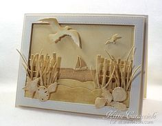 Sp pretty, I want to frame it! Monochromatic Die Cut Card by @kittie747 for the #EllenHutsonLLC blog.