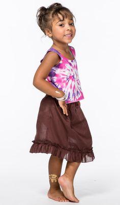 http://indiastyle.ru/products/18452 Детская коричневая юбка в стиле бохо. Бохо-шик для детей. 440 рублей
