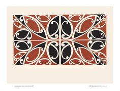 Design 7 from Maori Patterns: Painted & Carved for Sale - New Zealand Art Prints