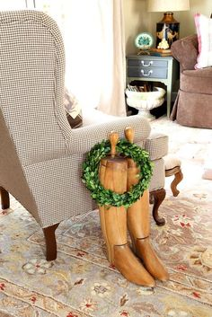 Savvy Southern Style: Simple Christmas Style in the Sitting Room