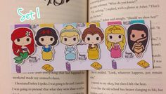Magnetic Bookmarks Princess Disney by Happy Hello Co. (shop owner, Vivian H) on Etsy Disney Bookmarks, Magnetic Bookmarks, Kawaii Disney, Anime Kawaii, Chibi, Felt Magnet, Cuadros Diy, Disney Printables, Drawing Prompt