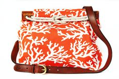 Orange Coral Laurel Bag from Kiel James Patrick