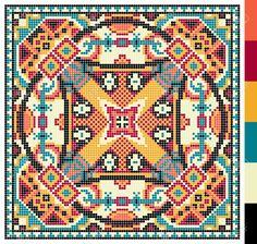 Bildergebnis für kreuzstich geometrische muster