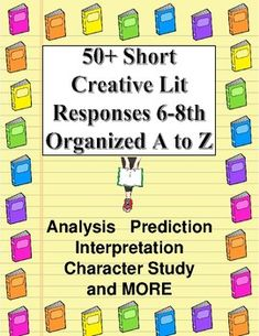 Reading Response Menu: Fun Choices A to Z. by AZSunset Cross-Curricular Literacy Middle School Writing, Middle School English, Middle School Teachers, Reading Response Log, No Response, Teacher Evaluation, Literary Terms, Reading At Home, Teacher Hacks