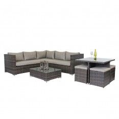 Valencia 9 Piece Lounge & Dining Setting