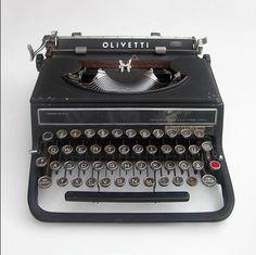 Typewriter Olivetti Studio 42 designed by the Bauhaus-alumnus Alexander Schawinsky in 1936