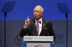 Malaysia's Prime Minister Datuk Seri Najib Razak addresses the World Islamic Economic Forum (WIEF) in London October 29, 2013. Najib is on a three-day working visit to Indonesia for the 2016 WIEF. — Reuters pic