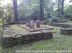 Runyon Cemetery, Lockport, Illinois. Old family cemetery long forgotten and tucked quietly away in a forest preserve.