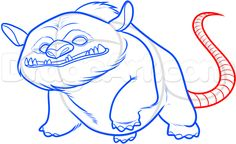 how to draw gruff the neverbeast step 8