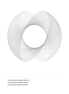 geometry posters by Amanda Rohlin, via Behance