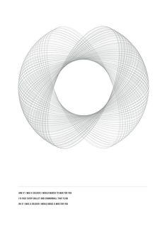 geometry posters by Amanda Rohlin, via Behance