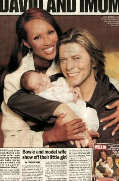 David Bowie, Iman and their daughter