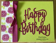 DIY Cardmaking using Stampin Up Happy Birthday Gorgeous bundle in Lemon Lime Twist and Berry Burst