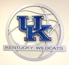 University of Kentucky Aluminum Basketball - Hex Head Art